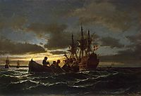Sea at Night, 1865, melbye
