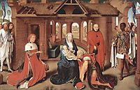 Adoration of the Magi, central panel of the Triptych of the Adoration of the Magi , 1472, memling