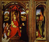 Altar of Saints John the Baptist and John the Evangelist, memling