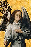 Angel Holding an Olive Branch , 1480, memling