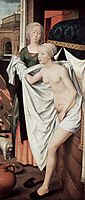Bathsheba in the bath, 1480, memling