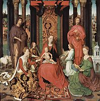Central panel of the Triptych of St. John the Baptist and St. John the Evangelist , 1479, memling