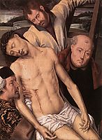 Deposition (left wing of a diptych), 1490, memling