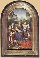 Diptych of Jean de Cellier (detail), c.1475, memling