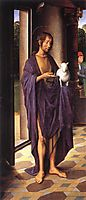 The Donne Triptych left wing, c.1475, memling