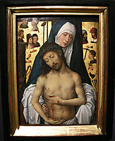 Ecce Homo in the arms of the virgin, 1479, memling