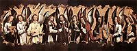 Five Angels Playing Musical Instruments, left hand panel from a triptych from the Church of Santa Maria la Real, Najera , 1490, memling