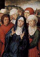 Granada diptych, right wing, the holy women and St. John, c.1475, memling
