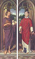 John the Baptist and St. Lawrence, memling