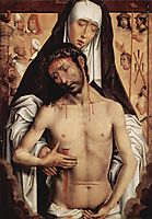 The Man of Sorrows in the Arms of the Virgin  , 1475, memling