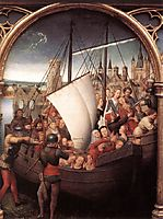 The Martyrdom of Saint Ursula and her companions at Cologne, from The Reliquary of St. Ursula, 1489, memling