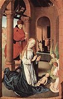 The Nativity, left wing of a triptych of the Adoration of the Magi , 1472, memling