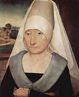 Portrait of an old woman, 1472, memling