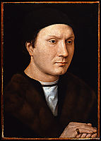 Portrait of an Unknown Man with a Letter, 1485, memling