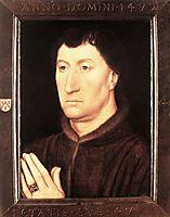 Portrait of Gilles Joye, 1472, memling