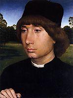 Portrait of a Young Man before a Landscape, c.1480, memling