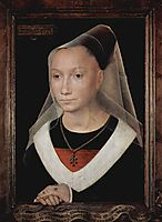 Portrait of a Young Woman , 1480, memling