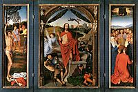 The Resurrection, central panel from the Triptych of the Resurrection, 1490, memling