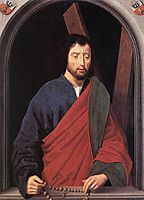 St. Andrew (left wing of a diptych, reverse), 1490, memling