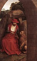 St. Jerome and the Lion, 1490, memling