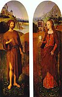 St. John the Baptist and St. Mary Magdalen. Wings of a triptych, memling