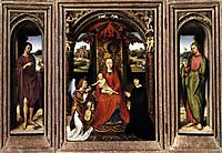 Triptych, c.1485, memling