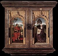 Triptych of Jan Floreins closed, 1479, memling