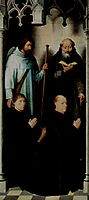 Triptych of the Mystical Marriage of St. Catherine of Alexandria,  The founder Jacob de Kueninc and Anthony Seghers , 1479, memling