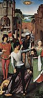 Triptych of the Mystical Marriage of St. Catherine of Alexandria, inker wing The Beheading of John the Baptist, 1479, memling