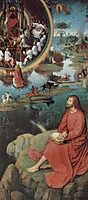 Triptych of the Mystical Marriage of St. Catherine of Alexandria, right wing, scene of St. John the Evangelist in Patmos, 1479, memling