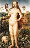 Vanity, central panel from the Triptych of Earthly Vanity and Divine Salvation , c.1485, memling