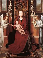 Virgin and Child Enthroned with Two Angels, 1490, memling