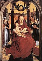 Virgin and Child Enthroned with two Musical Angels, 1467, memling