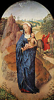 Virgin and Child in a Landscape, memling