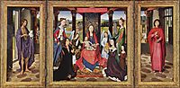 The Virgin and Child with Saints and Donors (The Donne Triptych), c.1478, memling