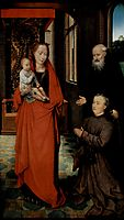 Virgin and Child with St. Anthony the Abbot and a Donor, 1472, memling