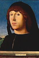 Portrait of a Young Man, 1478, messina