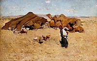 Arab Encampment, Biskra, 1887, metcalf