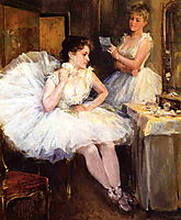 The Ballet Dancers aka The Dressing Room, 1885, metcalf