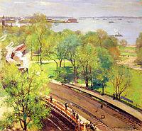 Battery Park, Spring, 1924, metcalf