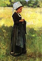 Breton Girl, 1884, metcalf