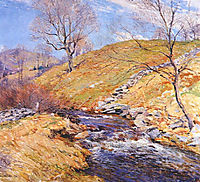 Brook in March, 1923, metcalf