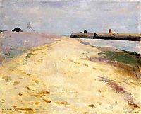 By the Shore, Walberswick, 1885, metcalf