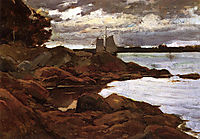 Close of Day on the Maine Shore, 1881, metcalf