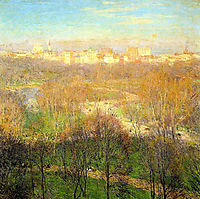 Early Spring Afternoon, Central Park, 1911, metcalf
