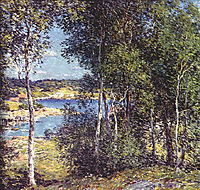 A Family of Birches, 1907, metcalf