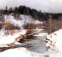 The Frozen Pool, March, 1909, metcalf