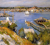Gloucester harbour Sun, 1895, metcalf