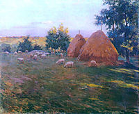 Haystacks, 1888, metcalf
