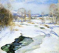 Icebound Brook (aka Winter-s Mantle), 1922, metcalf